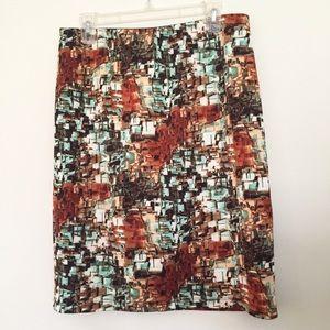 Betsey Johnson stretch knit pencil skirt L